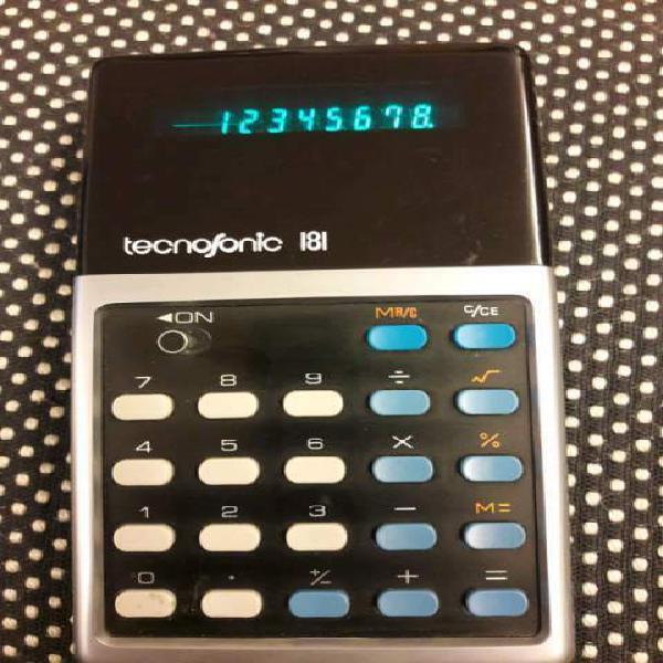 Tecnosonic 181 calcolatrice vintage 1975 spedizione inclusa