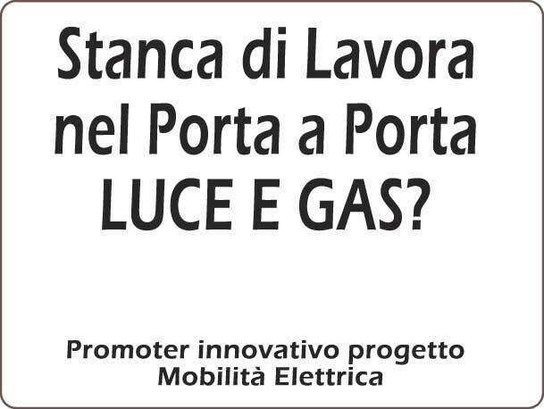 Commerciale/promoter innovativo progetto mobilità elettrica