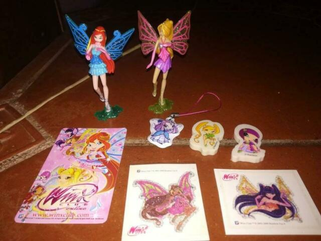 Lotto winx sorpresine kinder figurine pixie bloom flora