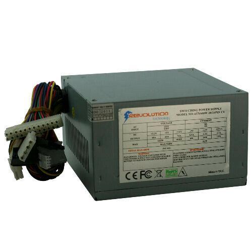 Alimentatore per computer atx 600watt 24pin sata molex fdd