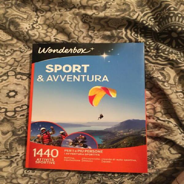 Cofanetto wonderbox sport e avventura