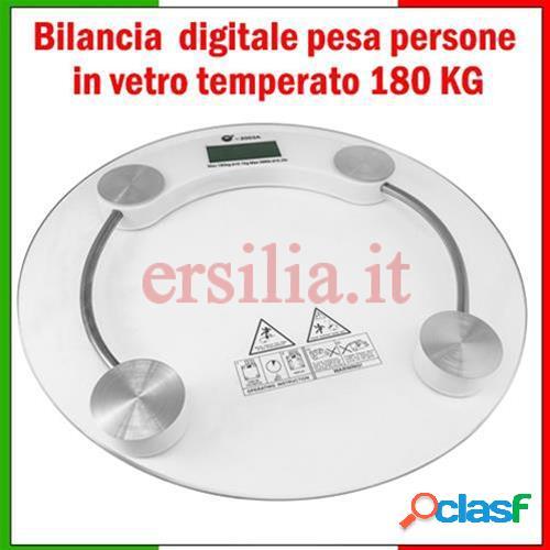Bilancia digitale pesa persone in vetro temperato 180kg