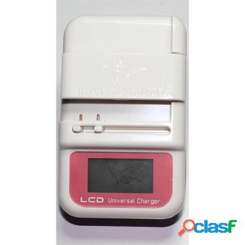Carica batteria universale lcd usb per cellulari, smartphone e fotocamera (pink)
