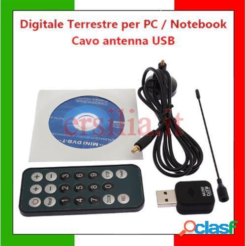 Digitale terrestre per pc notebook dvb tv usb cavo antenna