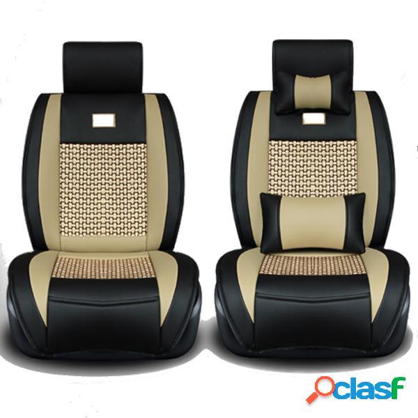 Cuscino del sedile in tessuto di poliestere di alta qualit/à di lusso rimovibile e regolabile per auto a cinque posti al 95/%,D