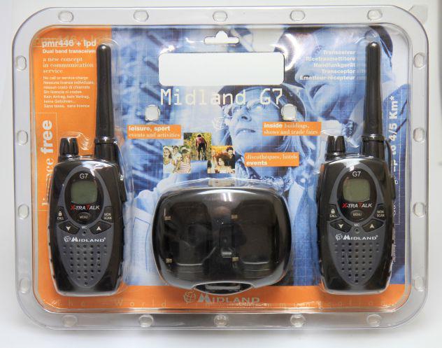 2 x ricetrasmittente midland g7 pro walkie talkie