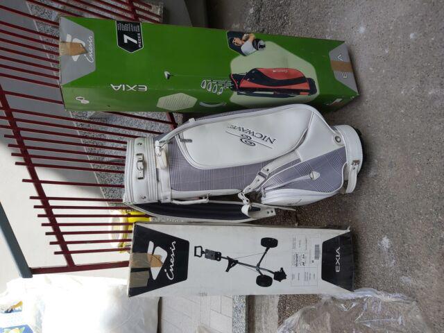 Set da golf completo di carrello e borsone. nuovo