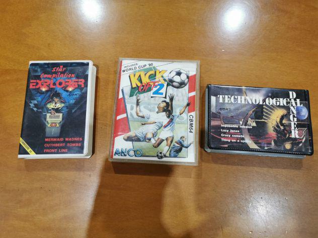 Lotto 3 cassette gioco commodore 64