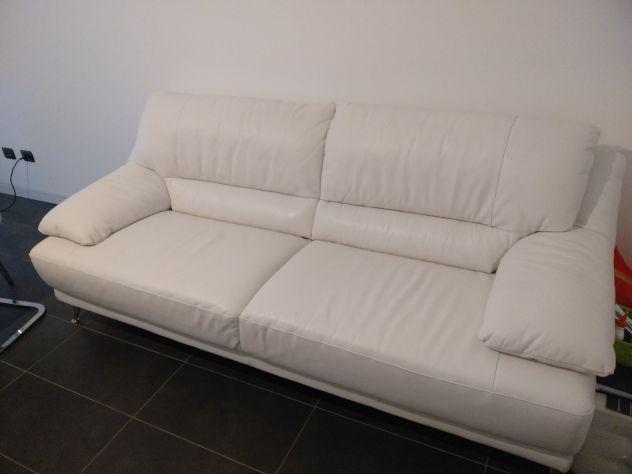 Divano divani e divani/natuzzi pelle bianca nuovo