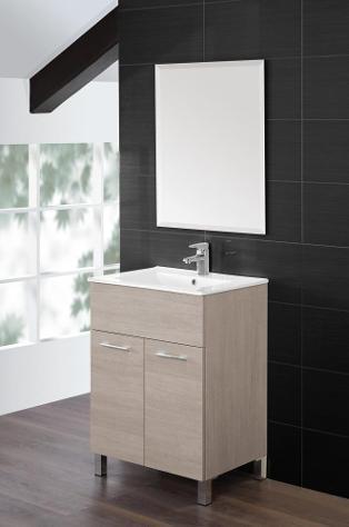 Mobile da bagno composizione rovere chiaro 60cm