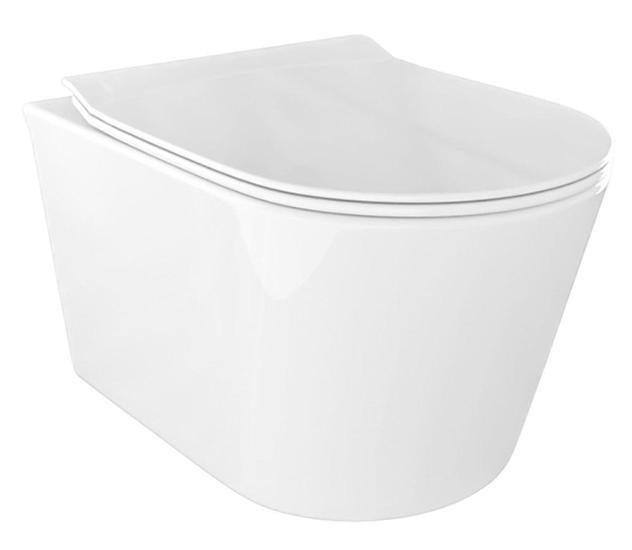 Wc sospeso in ceramica 36,5x53x35 cm oceano naggi bianco
