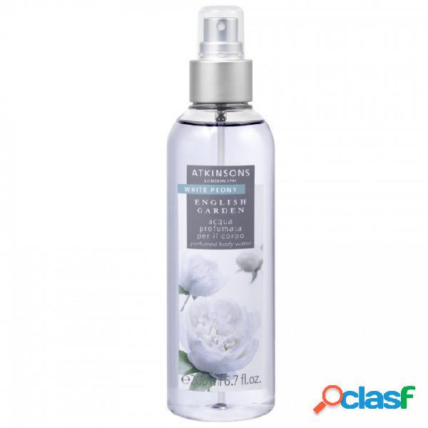 Atkinsons english garden white peony acqua profumata per il corpo 200ml