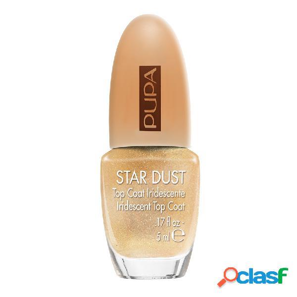 Pupa smalto star dust top coat - 008 apricot gold