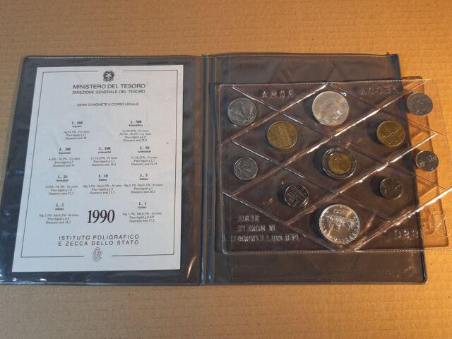 Serie divisionale monete italia repubblica lire 90-92-93