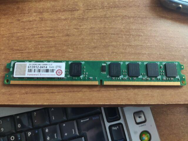 Trascend ram ddr2 2 gb gigabyte 667 mhz cl5 ddrii