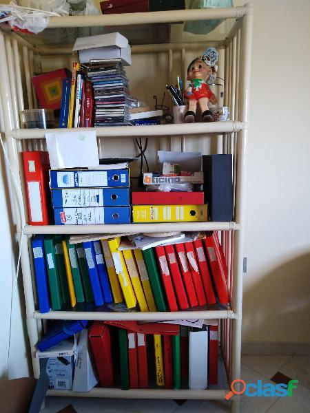 Libreria in Rattan per cameretta.