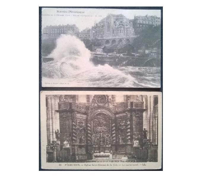 France francia_aquitaine 2 cartoline bn fp aq#01