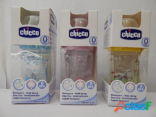 Chicco biberon benessere in pp 0m+ tettarella in silicone 150ml
