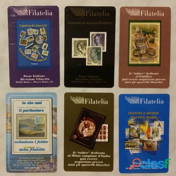 6 (sei) Francobolli serie ordinaria tematica il folder poste italiane: 1/6/13/15/22/41 nuovo 1