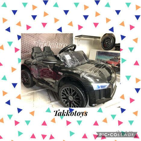 Auto macchina elettrica r8 power nera
