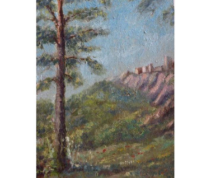 Dipinto olio paesaggio piemontese ghivarello