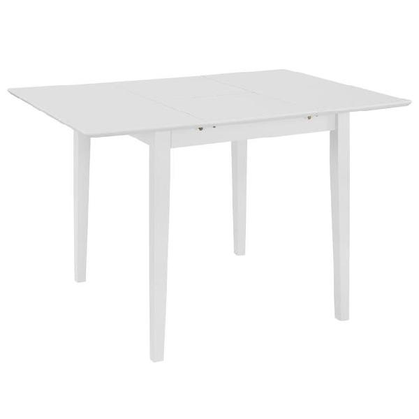 Vidaxl tavolo da pranzo estensibile bianco (80-120)x80x74 cm