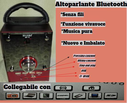 Altoparlante portatile bluetooth mh juba