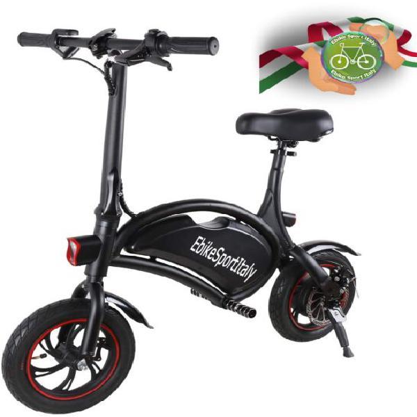 Bicicletta elettrica,12°pollici velocità max 40km nera