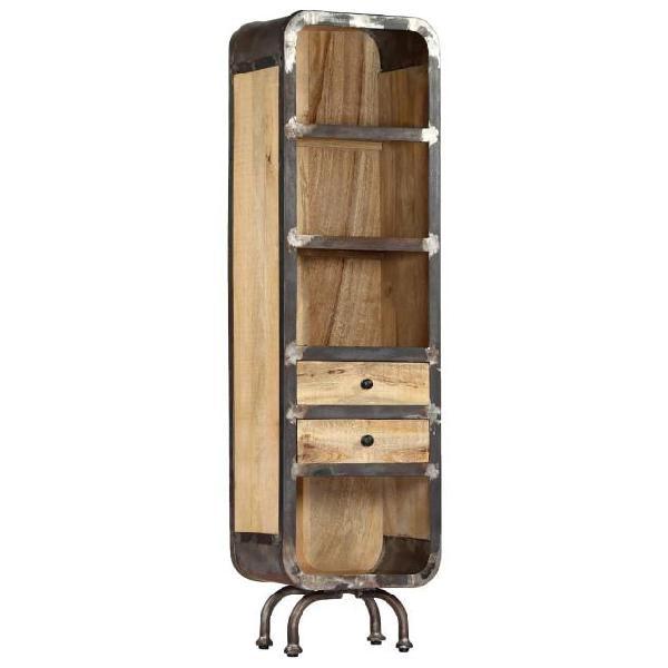 Vidaxl credenza 40x30x145 cm in legno massello di mango