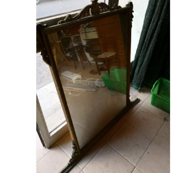 Specchio anni 60 cornice in legno