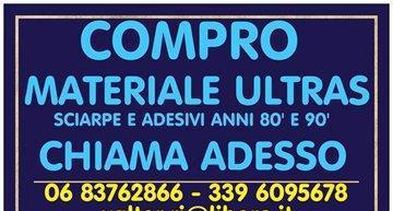Adesivi e sciarpe ultras roma