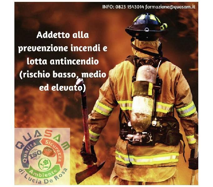Addetto antincendio rischio basso- medio-elevato