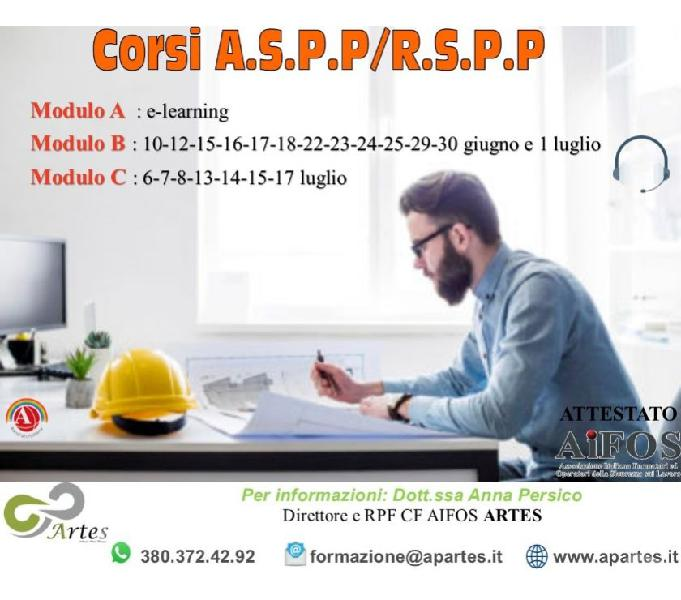 Corsi rspp aspp modulo b