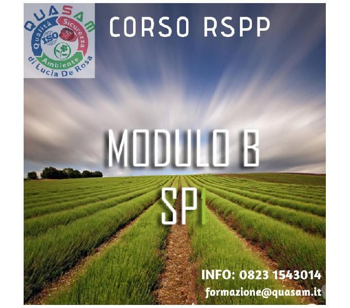 Corso aspp e rspp modulo b di specializzazione sp1