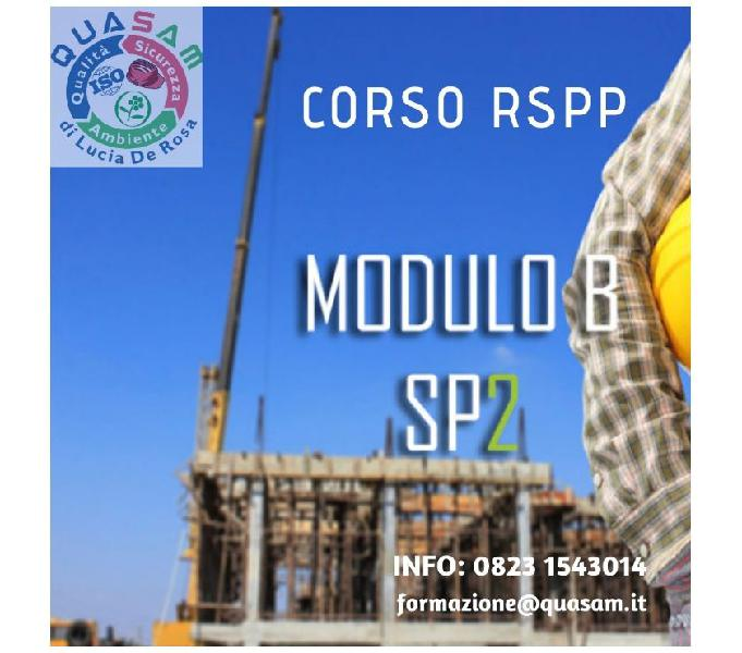 Corso aspp e rspp modulo b di specializzazione sp2