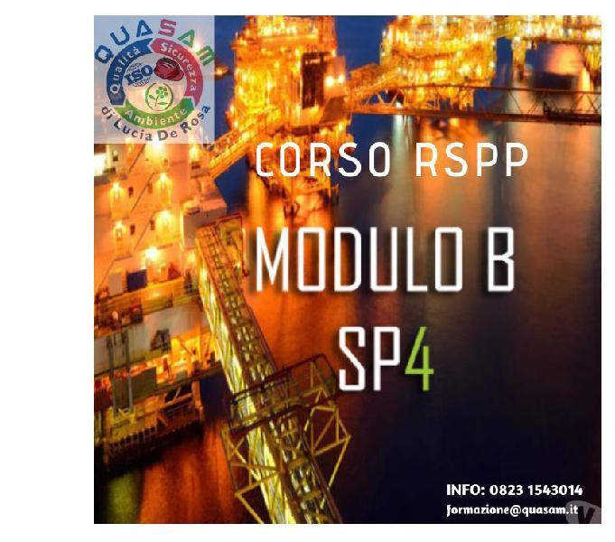 Corso aspp e rspp modulo b di specializzazione sp4
