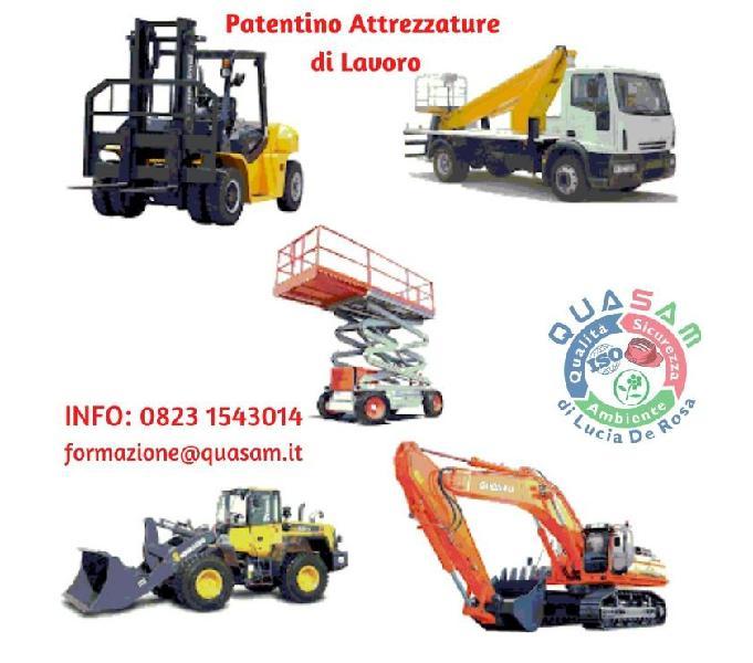 Patentino attrezzature da lavoro (accordo 22022012)