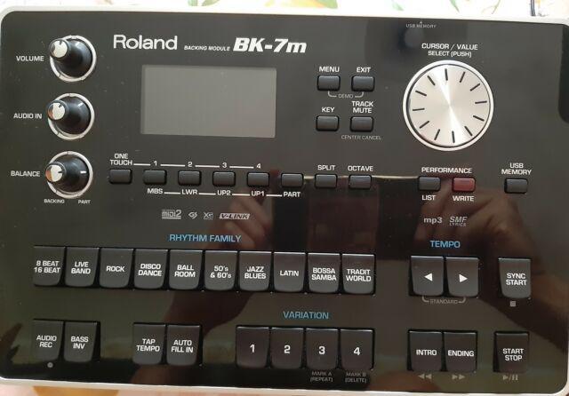 Modulo arranger roland bk 7m, registra.wav, lettore smf e