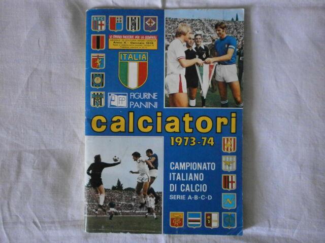 Panini: album calciatori 1973-1974 con 429 figurine