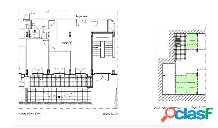 Saxa rubra - locazione ufficio 100 mq con posti auto