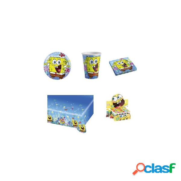 Kit n5 compleanno spongebob + 18 bolle sapone