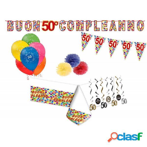 Addobbi e decorazioni per compleanno di 50 anni - set party