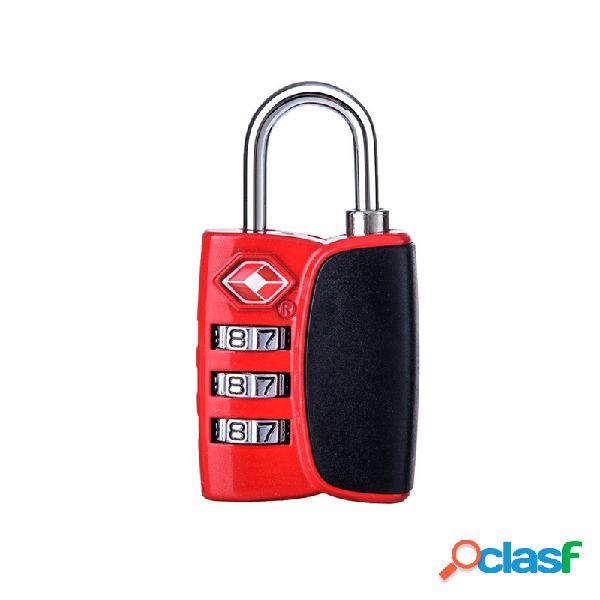 Lock di codice di blocco del codice della combinazione di naturehike tsa blocco doganale di tre numeri blocco funzione antifurto