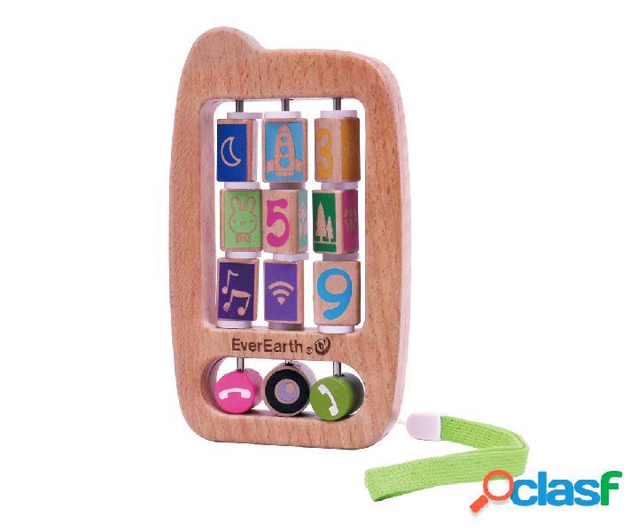 Telefono giocattolo di legno
