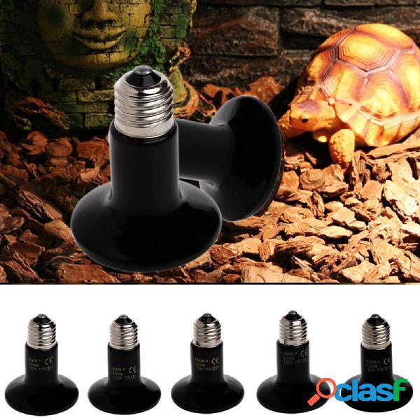 E27 25w 50w 75w 100w riscaldamento a infrarossi per ceramica lampada pet rettile breeding light bulb ac220-240v