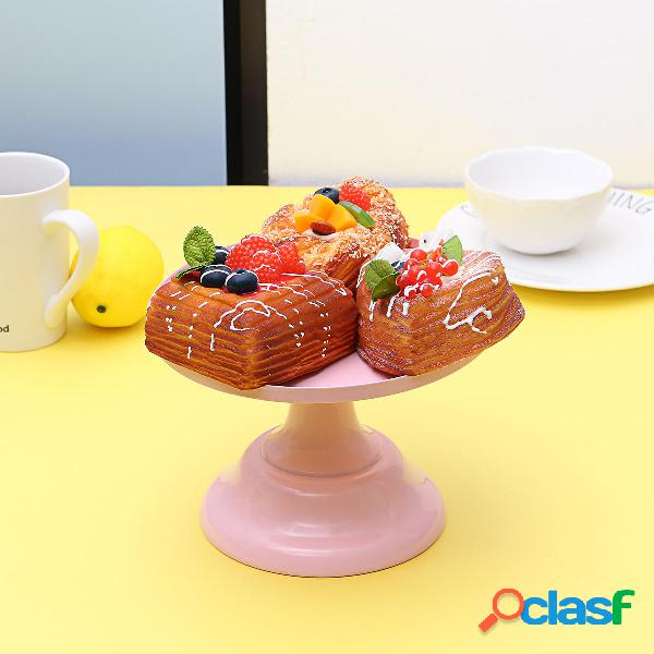 Decorazioni della festa nuziale del supporto del dessert del basamento del basamento della torta rotonda del ferro 8inch