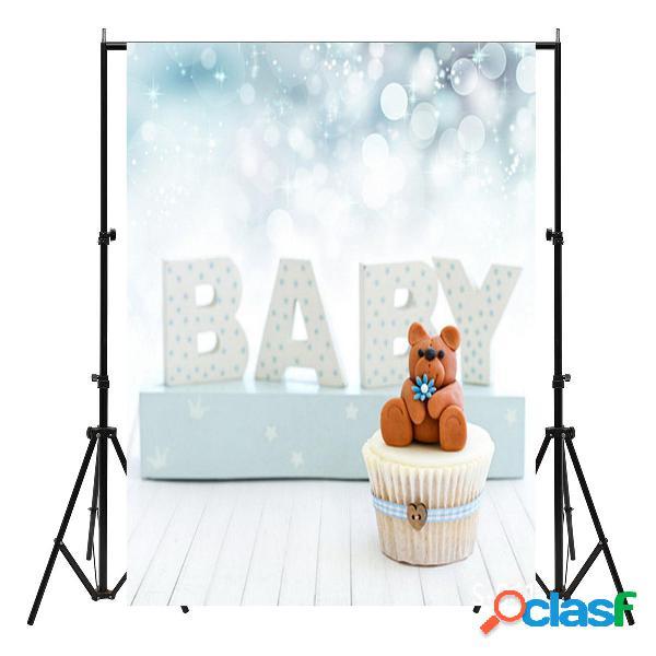 Fondo del puntello dello studio del contesto di fotografia del bambino orsacchiotto dei neonati 3x5ft