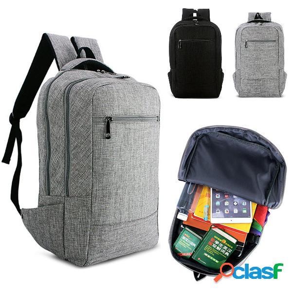 Ipree® 15.6inch uomo scrivania in tela di canapa dello zaino business school shoulder borsa zaino da viaggio