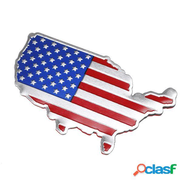3d adesivi per auto auto metallo usa stati uniti mappa americana bandiera emblema della decalcomania