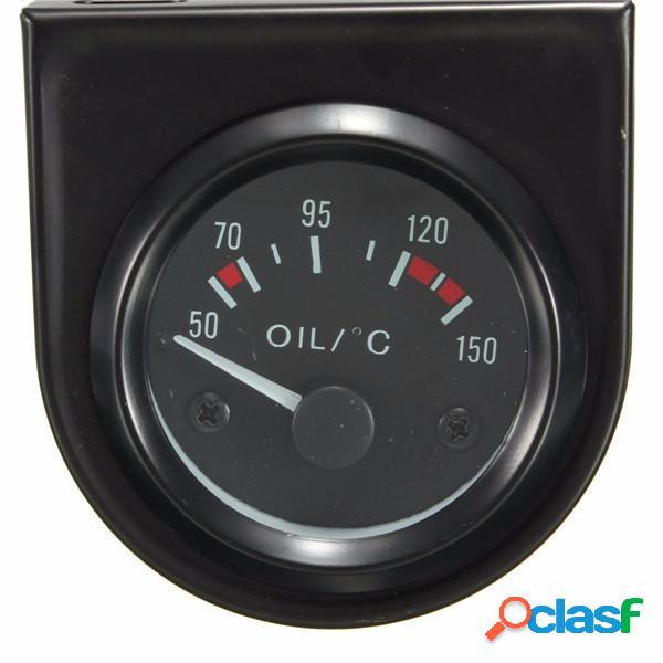 """Auto universale puntatore nero temp temperatura dell'olio calibro 50-150 ℃ led luce 2 """"52 millimetri auto universale lan"""